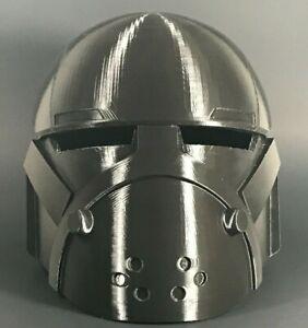 Raw 3D Printed Star Wars Bad Batch Wrecker Helmet Size Large