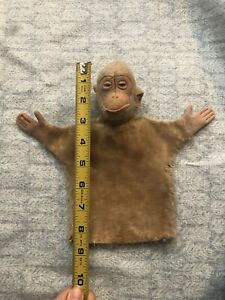 Rare Early Vintage Antique Steiff Hand Puppet Blonde Mohair Monkey Jocko W/ Tag