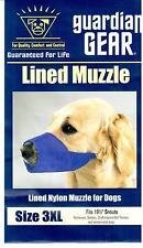 """Guardian Gear Blue Lined Nylon Dog Muzzle - Size 3XL - Snout 10 1/2"""""""