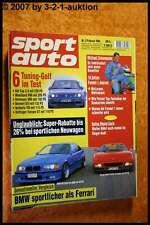 Sport Auto 2/94 BMW M3 Turbo Ferrari 348 Lotec VW Golf
