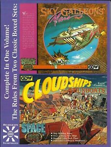 Space 1889 Sky Galleons of Mars / Cloudships & Gunboats Rules Sets *FS