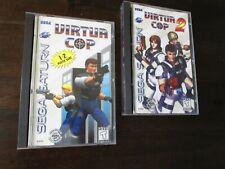 Virtua Cop 1 & 2 Video Game Lot (Sega Saturn, 1996) Complete! *2 GAMES!*