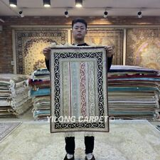 YILONG 2'x3' Patchwork Handmade Silk Area Rug Antique HandKnotted Carpet HF136B