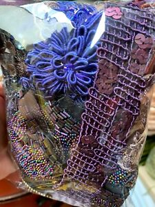 Assorted Appliques Panel Trim Dark Purple Combo Pieces 1 Grab Bag