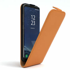 Bolso para Samsung Galaxy s8 plus abatible, funda, estuche, funda protectora, móvil, protección cover Orange