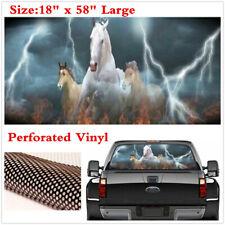 "18""x58"" Rear Window Windshield Decal White Horse Running Graphics Car Sticker"