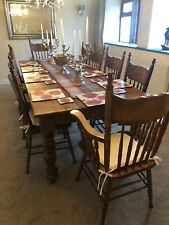 2.6m / 8.5ft 10 SEATER TABLE & CHAIRS - LARGE DINING SET FARMHOUSE COTTAGE TABLE