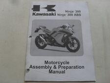 USED GENUINE KAWASAKI 2013 NINJA 300 ASSEMBLY & PREPARATION MANUAL 99931-1533-01