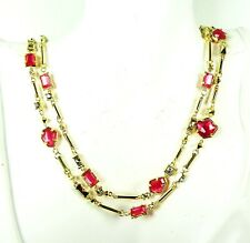 KENDRA SCOTT Yazmin Yellow Gold Plated Long Necklace in Berry Illusion Mix