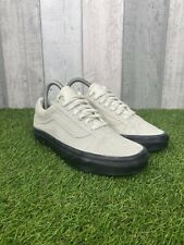 Vans Skate Shoes Off White Black Gum Soles Old Skool Suede Trainers Size UK 5