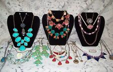 24 Piece Modern and Vintage Colorful Mixed Necklace Lot - 1928