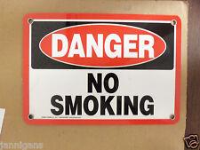 "Danger No Smoking Small Warning Safety Signage Sign 7"" X 10"""