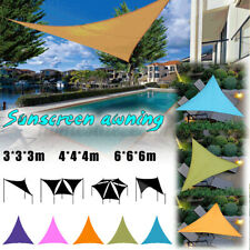 Outdoor Triangle Sun Shade Sail Top Canopy Patio Lawn Cover UV Block