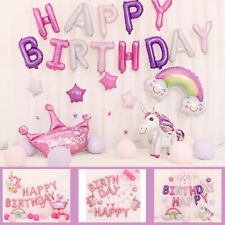 Happy Birthday Party Decor Letter Horse Balloons Set Foil Balloons Baby   ~