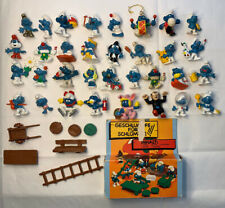 Vintage Smurfs PVC Figures Toys 70's 80s Peyo Schleich Mushroom House Super Lot