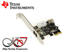 Carte PCIE FIREWIRE 400 IEEE1394A - PUCE TEXAS INSTRUMENTS TI XI02200A