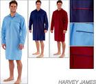 Harvey James Mens Plain Woven NightShirt Soft Cotton Easy Care Nighty M L XL XXL