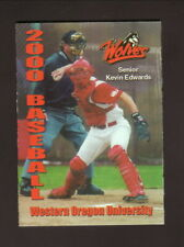 Western Oregon Wolves--2000 Baseball/Softball/Track & Field Pocket Schedule