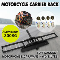 300kg Motorcycle Carrier Hauler Hitch Mount Rack front rear Tow Bar Dirt Bike