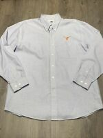 Cutter And Buck Men's Long Sleeve Button Dress Shirt Texas Longhorns Logo XL