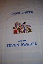 Disney's Snow White Crossed Stitched Afghan Blanket