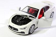 Ghibli Maserati 1:32 Sports Car model Diecast Sound  Light white NEW