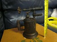 Vintage Antique Turner Brass Soder Torch Gas Blow Torch (11)