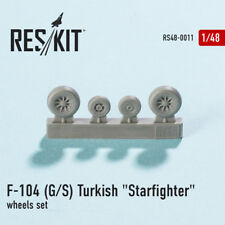 1/48 F-104 (G/S) Turkish Starfighter Wheels for Revell/Hasegawa/Monogram kits