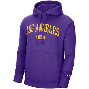 New 2021 NBA Los Angeles Lakers Nike Heritage Essential Pullover Fleece Hoodie