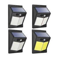 12-19W Solar LED Wall Light PIR Motion Sensor Outdoor Garden Yard Security Lamp