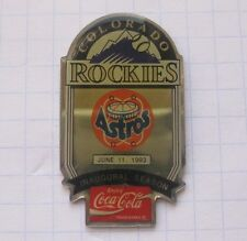 COCA-COLA / MLB COLORADO ROCKIES / HOUSTON ASTROS  ... Baseball Pin (135k)