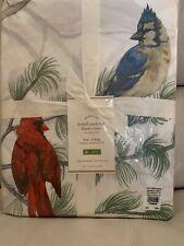 Pottery Barn Holiday Birds Lowell Cardinal King Duvet Cover Christmas🎄pine Tree