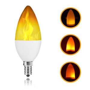 LED Flicker Flame Light Bulb Simulated Burning Fire Effect Party Lamp Decor