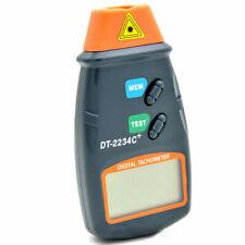 Handheld Digital Laser Tachometer Contact Tach Tool RPM Tester Velocimeter CT