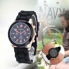 Durable black Women Men Unisex Kids Quartz Fashional Wrist Watch Wristwatches M