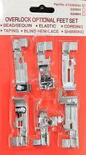 6-pc Overlocker Optional Foot Kit  A1A393000  Singer/Pfaff/Huskylock/Juki