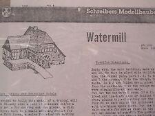JFS Paper Model - Watermill 1:90 scale
