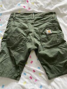Carhartt Green Cargo Shorts Mens Medium VGC