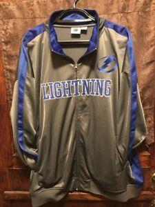 TAMPA BAY LIGHTNING HOCKEY ~ Mens 5XL ~ NEW w Tags ~ NHL.COM Track Style Jacket