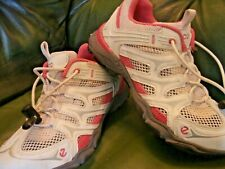 Ecco Pink & White Girl`s walking shoes UK 12.5 /EU Size 31 Air circulation type