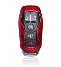 Luxury Red Carbon Fiber Remote Fob 5 Buttons Key Shell Cover for Ford Mustang