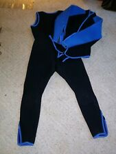 2 Piece Wetsuit Blue Black Jacket Pants Please Read Description
