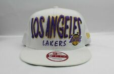 Los Angeles Lakers New Era 9Fifty white Vintage Snapback Hat Cap NBA
