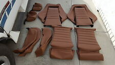 RECARO SEATS KIT E21 E10 320IS (2) UPHOLSTERY KIT GERMAN VINYL SADDLE BEAUTIFUL