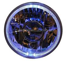 "7"" Halogen Sw H4 Headlight Projector Headlamp White LED Halo Angel Eyes 12 Volt"