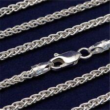 20 Inch Italian Solid 925 Sterling Silver 2.6mm Wheat Spiga Chain (CS110-20)