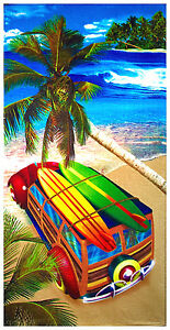 "30""x60"" Surf Trip Velour Beach Towel"