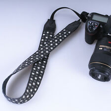 Black DSLR Camera Shoulder Strap Neck Strap Belt Hand Grip White little Heart