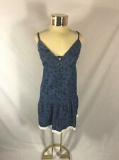 Women's Floral Denim Strapless ONLY LOVE COLLECTION Mini Dress Size 40