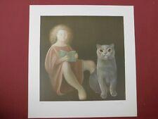 Lithografie / Ets Leonor Fini - Le Fille et le Chat